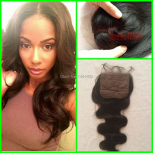 2015 New Rosa Hair Products Brazilian hair Body Wave Humen Hair Non Processed Hair Silk Base Lace Closures