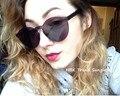 Claro clásico sin montura gafas cat eye de azúcar color de la vendimia gafas de sol mujeres de los hombres uv400 gafas de aviación transparente contra rayos