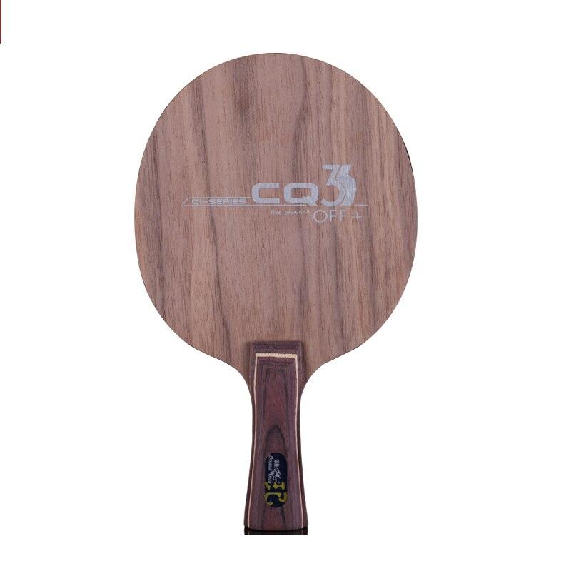 Double poisson CQ3 7 plis Ayous bois de noyer composite fibre de carbone offensive professionnelle raquette de tennis de table lame raquette