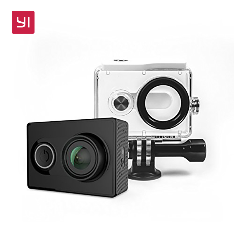 YI 1080P Action Camera Set With Waterproof case High-definition 16.0MP 155 Degree Angle 3D Noise Reduction International Edition [hk stock][official international version] xiaoyi yi 3 axis handheld gimbal stabilizer yi 4k action camera kit ambarella a9se75 sony imx377 12mp 155‎ degree 1400mah eis ldc sport camera black