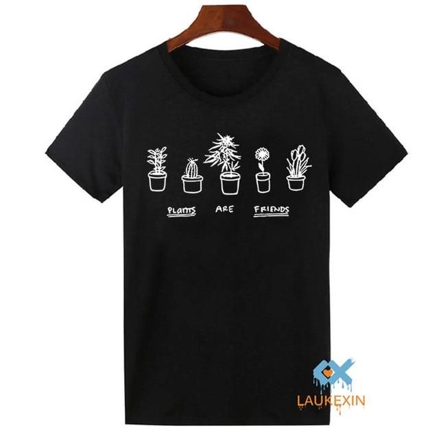 Sommer 2016 Unisex T Shirt Pflanzen Sind Freunde Printed Top Tumblr
