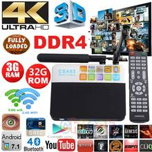 DDR4 S912 CSA93 TV box Android 7.1 TV Box Amlogic 3 GB RAM 32 GB Smart TV Caja 2.4G/5.8 GHz WiFi H.265 BT4.0 4 K Reproductor Multimedia PK X96