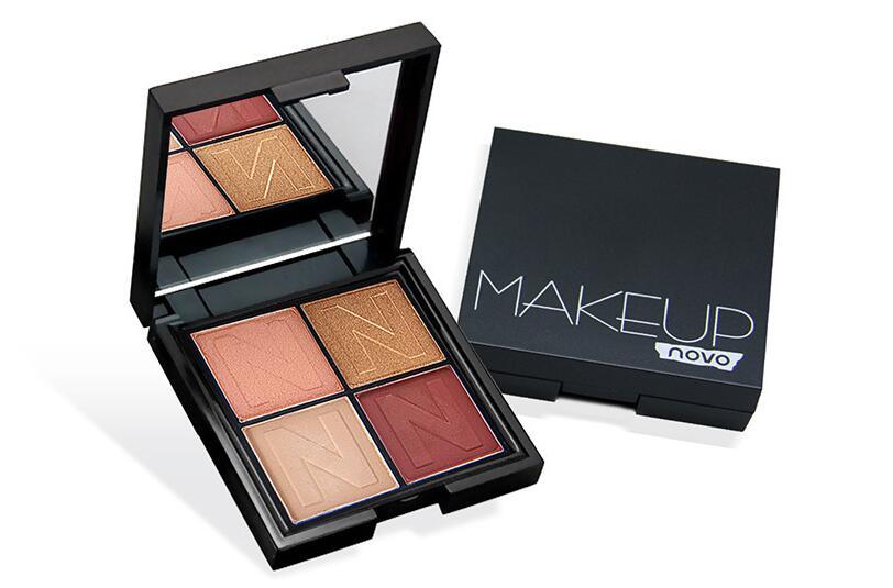 Baked Metallic Eye Shadow Makeup Palette Glitter Smoky