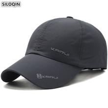 SILOQIN Mens Thin Breathable Hat Adjustable Size Letter Baseball Cap Womens Quick-drying Fashion Tongue Caps Snapback