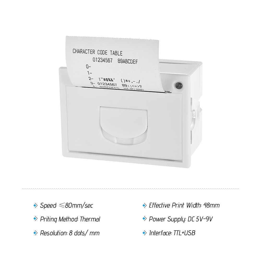 58 мм Термопринтер мини встроенный чековый термопринтер ttl + USB интерфейс высокоскоростной печати 50-85 мм/сек.