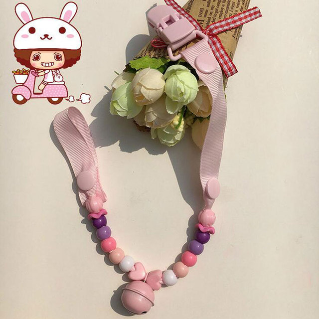 Baby Pacifier Chain Beads Pacifiers for Baby Teat Holders Pacifier Clips for Dummy Pacifier Leashes&Cases Clip Nipple for Child  2