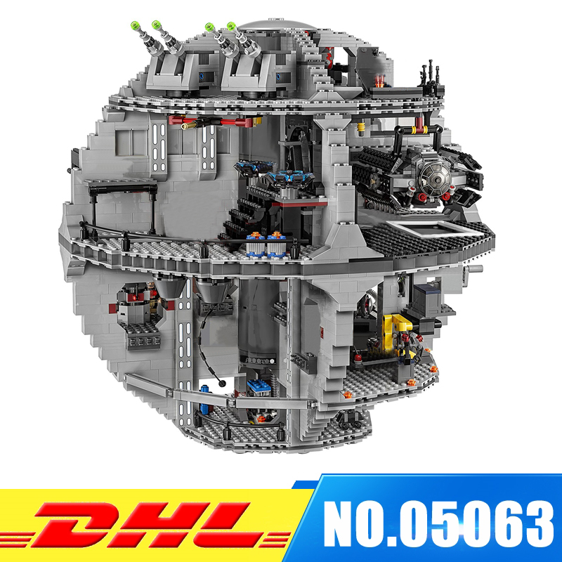 2017 Lepin 05063 4016pcs Genuine New Force Waken UCS Death Star Educational Building Blocks Bricks Toys Boy Toys 75159 in stock lepin 05063 4116pcs 05035 3804pcs star force waken ucs death wars model building blocks bricks toys gifts 75159 10188