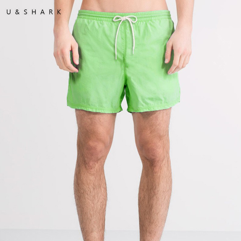 U&SHARK Brand Men Beach   Shorts     Board   Trunks   Shorts   Casual Quick Drying Male Swimwear Swimsuits Bermuda Casual Active Sweatpants