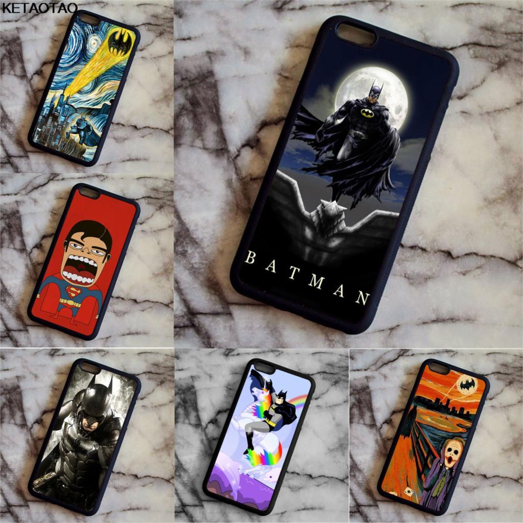 KETAOTAO Звездная ночь супергерой Бэтмен Темный рыцарь телефон чехлы для iPhone 4S 5C 5S 6 6 S 7 8 плюс X Чехол Мягкий ТПУ Резиновая силиконовые