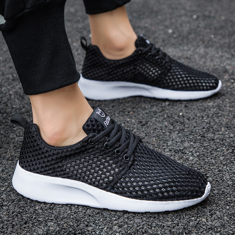 Sneakers Men Women Running Shoes Lightweight Breathable Casual Slip On Mesh Summer Trainers Male Female Footwear in Running Shoes from Sports Entertainment