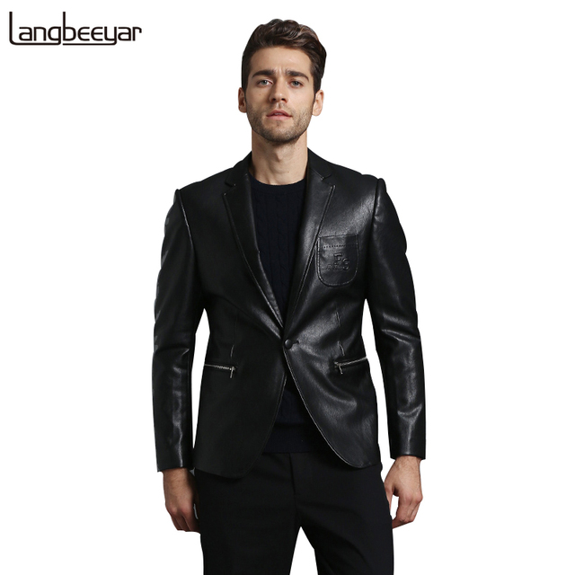 High-grade New Fashion Brand Leather Jacket Mens Faux Fur Coats Motorcycle Leather Jacket Business Men Lether Jackets And Coats