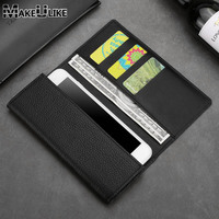 MAKEULIKE Genuine Leather Wallet Case For Sony Xperia XZ XA Universal Phone Pouch Bags For Sony