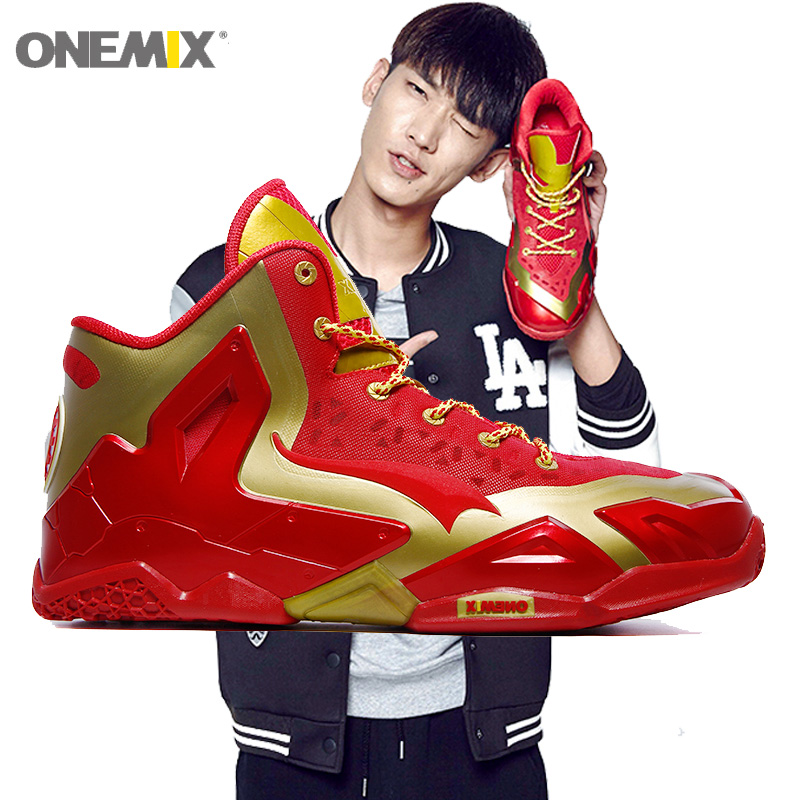 New Man Basketball Shoes For Men Nice Classic Athletic Basketball Boots Trainers Red Sports Shoe Outdoor