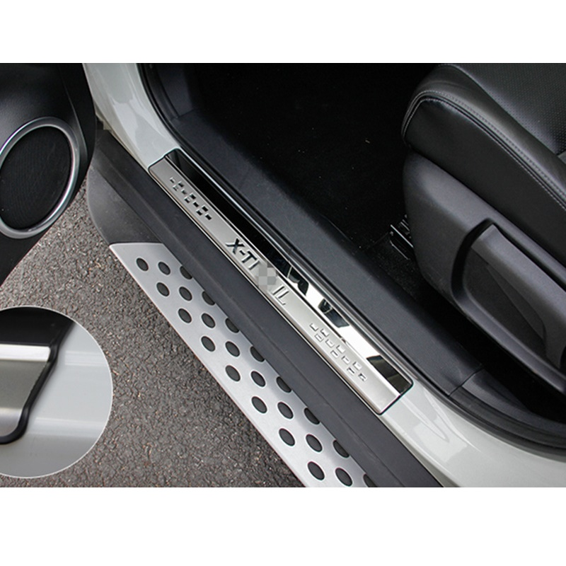 Stainless Steel Trim Outside Scuff Plate Door Sill Suitable for Nissan X Trail X-Trail Rogue T32 2014 2015 2016 Car Accessories set j40 black steel different trail front bumper w winch plate