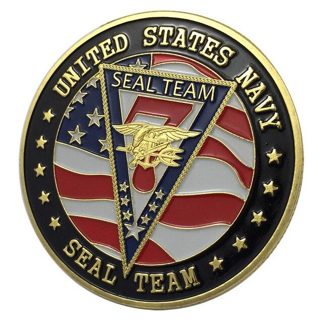 Nieuwe Us Navy Seal Team Zeven Vergulde Uitdaging Coinbadge