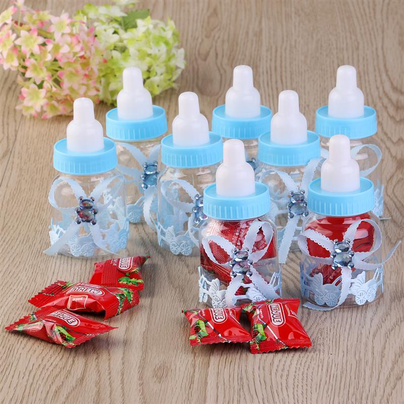 Clear Plastic Blue Feeder Feeding Bottle