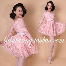 FREE SHIPPING 2016 New Vintage Sweet Slash Neck Strapless Bow Slim Ball Gown Pink Dress Fashion Women Clothing Sexy Vestidos