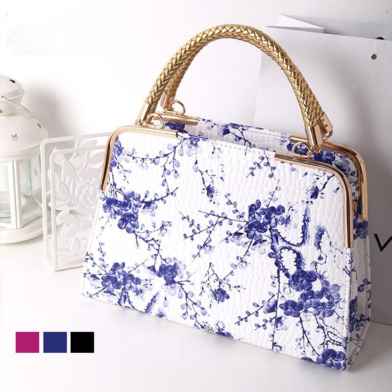 Bolsa de Couro de Patente Bolsas de Couro Bolsa de Ombro Venda Quente Nova Moda Feminina Bolsas Floral Mulher Ocasional 8003 2020