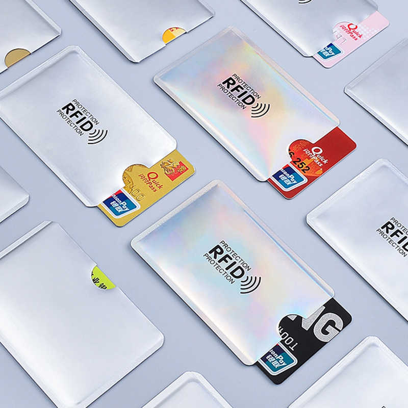 Anti rfid cartão titular nfc bloqueio leitor de bloqueio id banco titular do cartão estudante bonito cartões de identificação carteira passaporte negócio caso bancaire