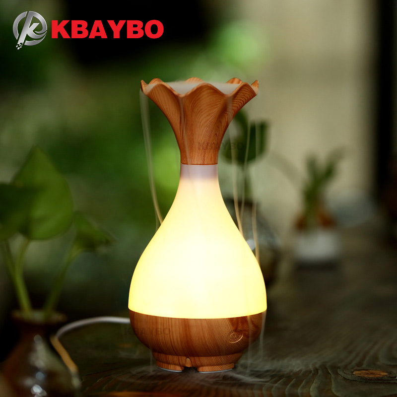 USB Air Humidifier Essential Oil Diffuser Aroma Lamp Aromatherapy Electric Aroma Diffuser Mist Maker for Home-Wood deep woodgrain humidifier essential oil diffuser aroma lamp aromatherapy electric aroma diffuser mist maker for home