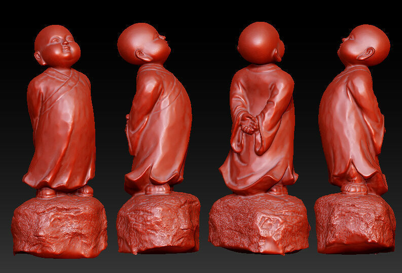 3D Model For Cnc 3D Carved Figure Sculpture Machine In STL File Format The Chinese Culture, Priestling