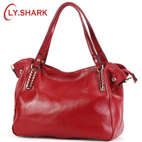 LY.SHARK Fashion Genuine Leather Bag Female Shoulder Bag Designer Handbags High Quality Women Bags Crossbody Messenger Bag Tote