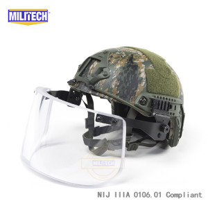 Image 5 - MILITECH NIJ IIIA 3A Bulletproof Visor for PASGT ACH FAST Picatinny Railed Helmet Ballistic Visor For Tactical Rail Helmets