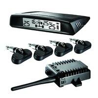 نظام مراقبة ضغط الإطارات الإطارات tpms سيارة lcd الشمسية + 4 لاسلكي استشعار بار psi السيارات العالمي tpms الخارجية جودة