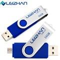 LEIZHAN USB Flash Drive OTG Smart Phone 64G 32G U Stick 16G 8G Memory Computer Pen Drive 4G Pendrive Rotated Micro Flash Disk