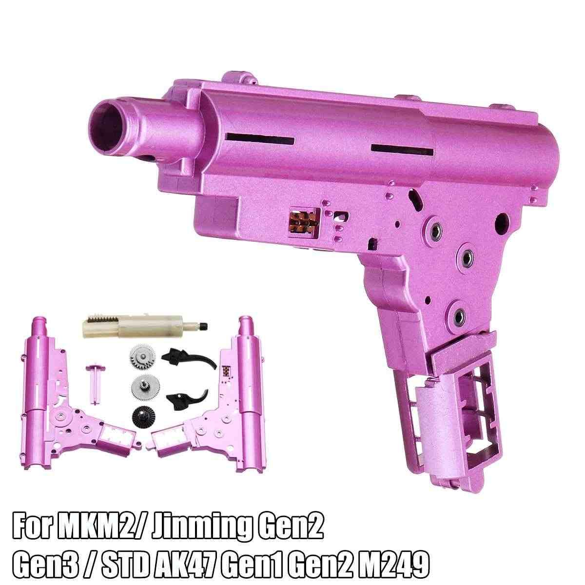 Металлический корпус коробки передач для MKM2 для Jinming Gen2 Gen3/STD AK47 Gen1 Gen2 M249 гелевый шар для бластера игрушка Модифицированная