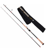 TSURINOYA 2Secs 2.47m/M/7 25g Spinning Fishing Rod Japan Carbon Lure Rods FUJI Accessories Long Distance BASS Pesca Pole Stick