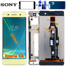 SONY Xperia XA 5.0 inch LCD Display F3111 F3112 F3115 F3116 Touch Screen Digitizer 1280*720 Assembly Frame Free Tools Glassfilm(China)
