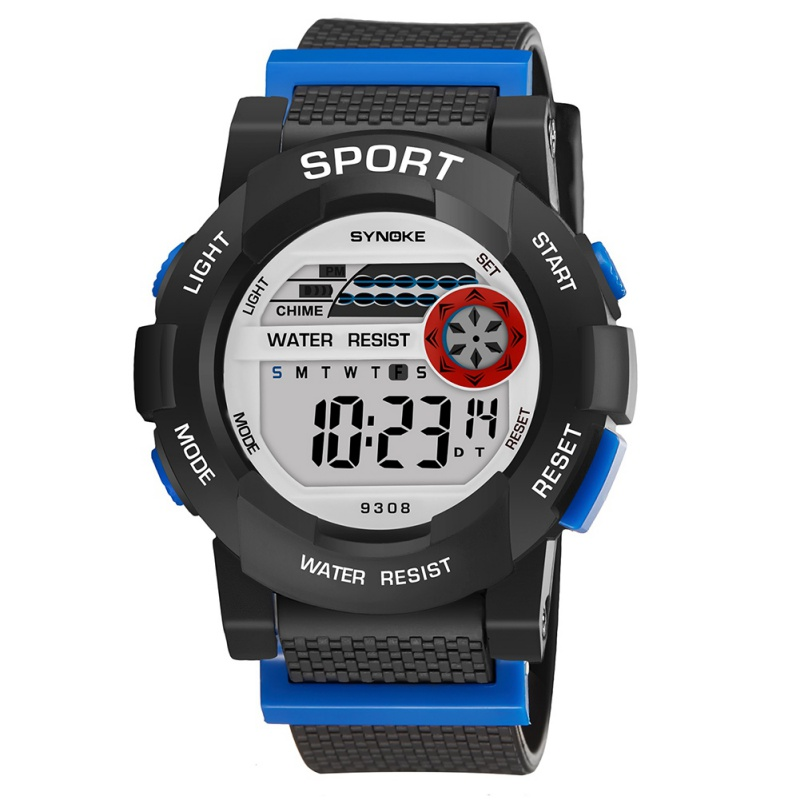 SYNOKE Clock Waterproof Kids Baby Watch Boys Girls Digital LED Sports Watch With Date Wristwatches Children's Watches