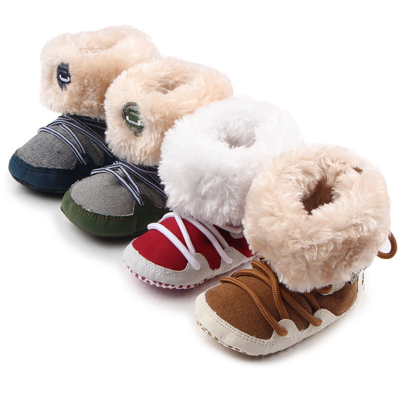 super quality 1pair Fashion cotton-padded winter Anti-slip snow Boots, First Walkers Bab ...