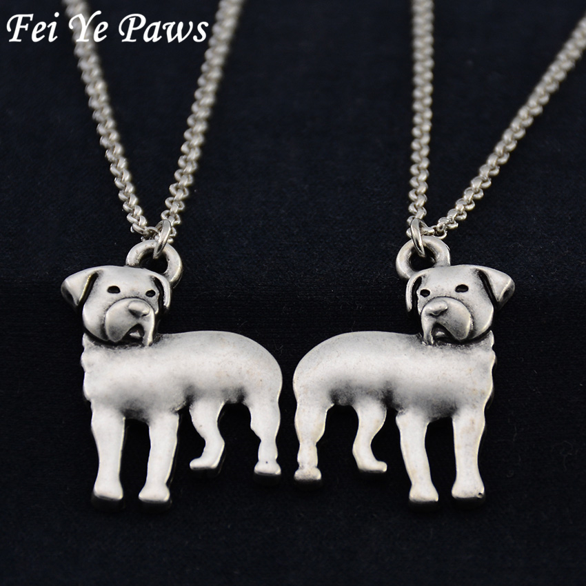 Us 14 06 40 Off Retro Hippie 3d Rottweiler Pendant Maxi Necklace Boho Dogs Chain Anime Best Friend Gift Necklaces For Women Men Jewelry Chocker In
