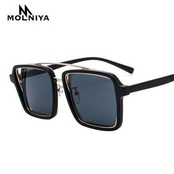 2019 Oversized Men Square Sunglasses Luxury Brand Women Sun Glasses Male Gafas de sol female sunglasses Optics Frame