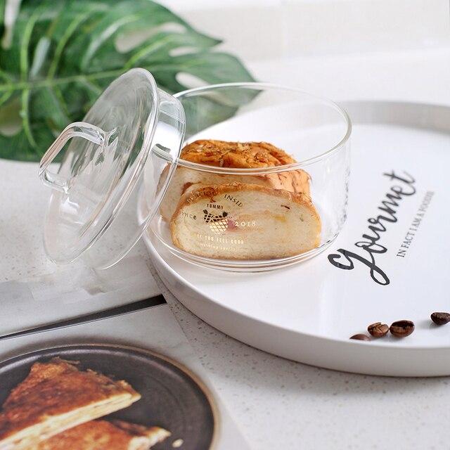 Pots de stockage en verre empilables résistants à la chaleur récipient hermétique de nourriture café mason jar distributeur de céréales organisateur de stockage de cuisine