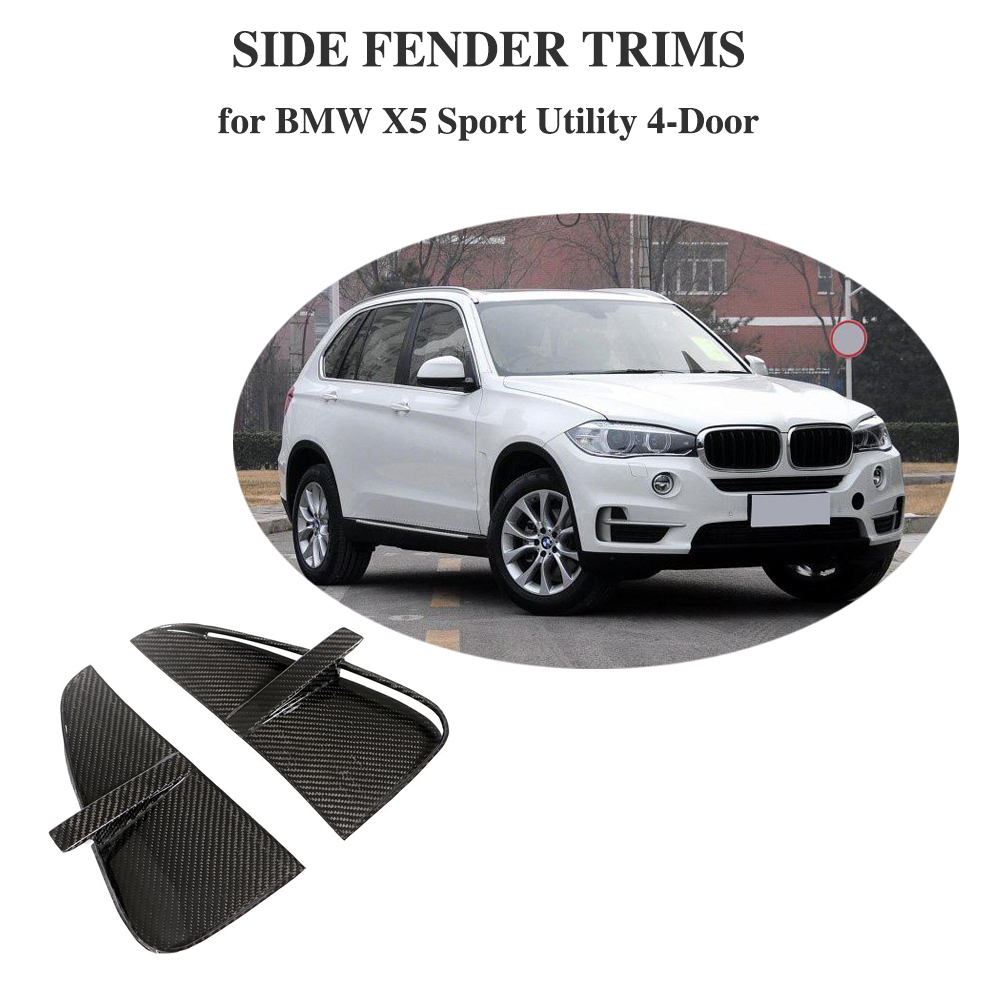 Pour BMW F15 X5 2014-2018 Base Sport utilitaire et M Sport avant pare-chocs évents en Fiber de carbone voiture autocollant décoration garnitures