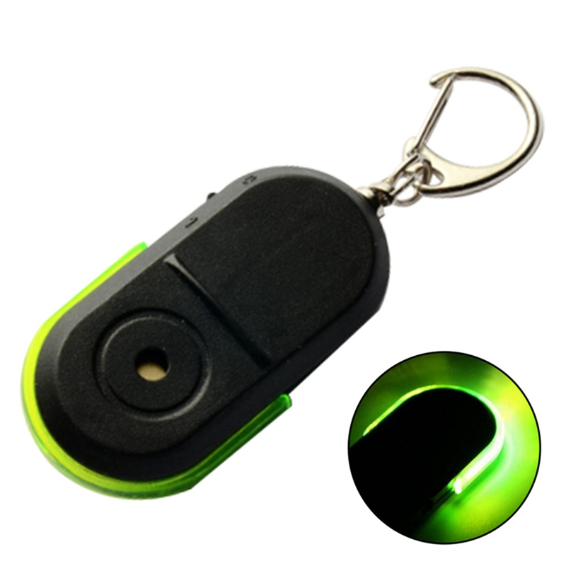 Anti-lost Alarm Whistle Sound Led Light Anti-lost Alarm Key Finder Locator Keychain Device Random Color Security Alarm