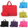 Portátil saco de ombro carry bag luva bolsa para laptop para ibm hp acer macbook air pro 11 12 13 14 15 ''frete grátis