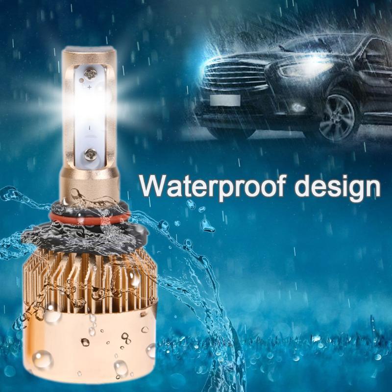 1 пара фар автомобиля S2 9005/9006 TX светодиодный лампы 8000lm 6500 К Авто Передние противотуманные автомобильных фар авто фар 12 24 В