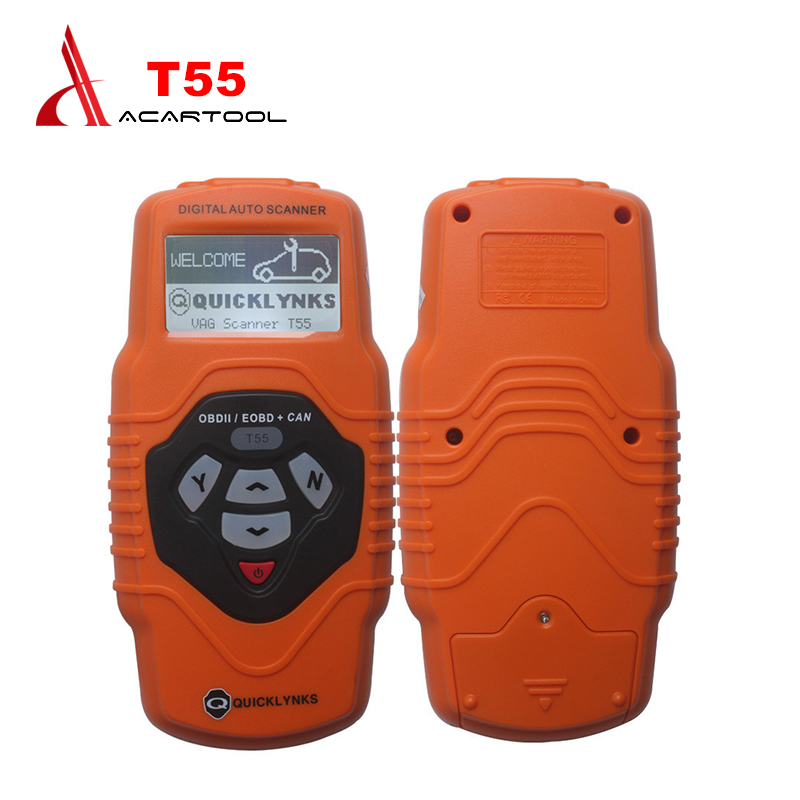 Quicklynks VAG Scanner T55 Auto OBD2 EOBD/OBDII +Can Scanner Diagnostic Tools Code Reader Scan tools Free Shipping autophix e scan es680 vag rpo obd scanner obdii code scanner