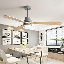 Postmodernistyczna drewniane wentylatory na sufit sypialnia 110 v/220 v wentylator do drewna wentylatory na sufit ze światłami pilot Ventilador De Teto