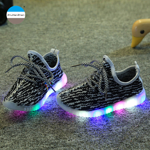 2e35d9fc47b5ab 2018 Fashio kids LED light shoes baby boy and girl casual sport shoes  glowing soft bottom toddler shoes sneakers high quality