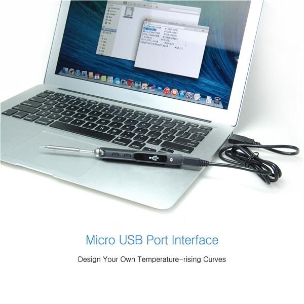 TS100 OLED Digital Programable Interfaz DC5525 Soldador Estación Incorporado Chip de STM32