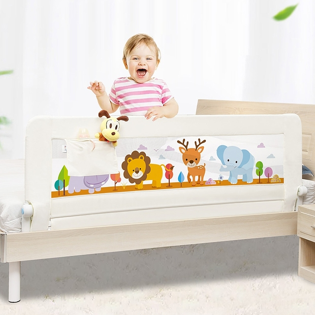 1.5M New Baby Bed Rail Baby Bed Safety Guardrail Pocket Baby Playpen Kids Safety General Use Baby Bed Fence Guardrail Crib Rails