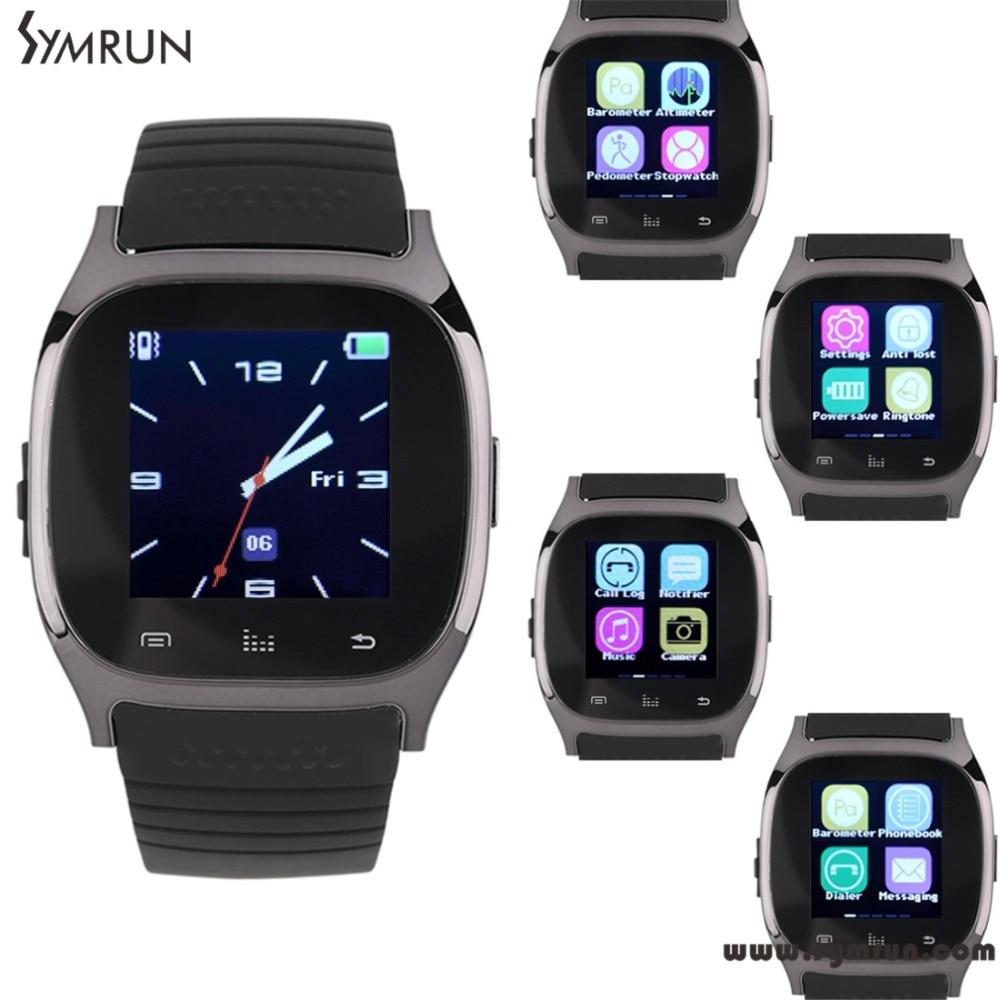 Symrun Smart Bluetooth Waterproof Watch M26 With Pedometer Barometer Phone Call Reminder font b Smartwatch b