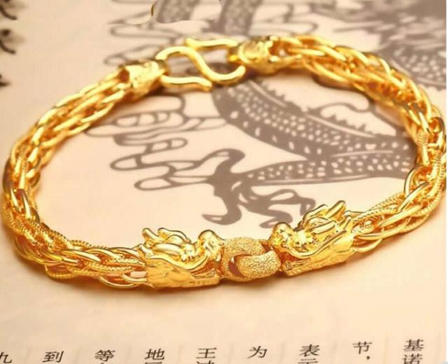 uk heavy in img solid pre bracelets extra bracelet curb owned gold secondhand bangles
