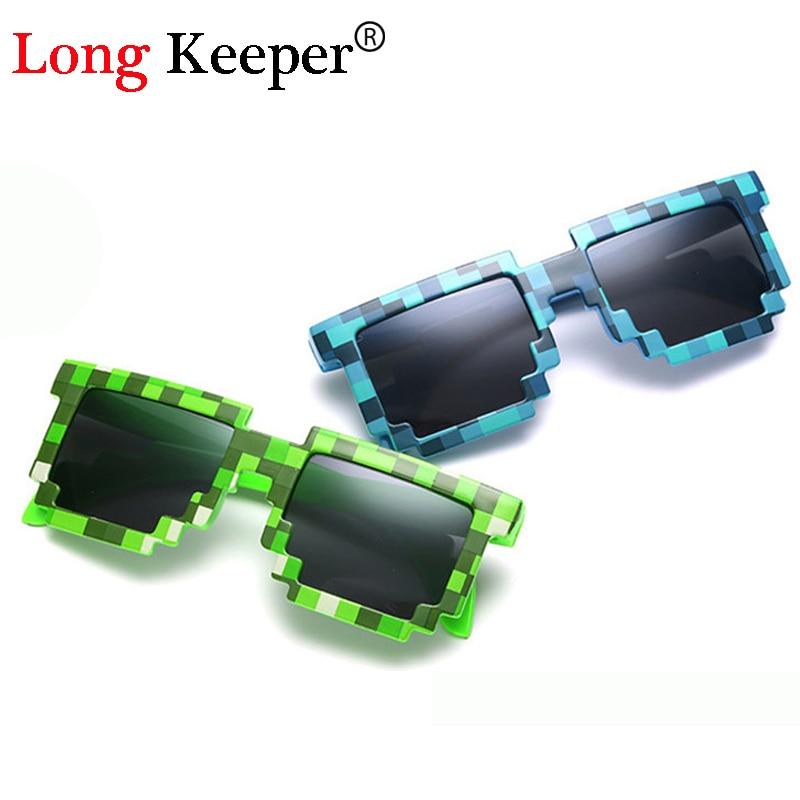 Minecraft Sun Glasses 6-15 Y Kids Sunglasses Creeper Glasses Novelty Mosaic Goggles Fashion Men Women Boys Girls Pixel Eyewares