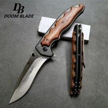 230 см (9′) 57HRC складной нож для резки труб карманные ножи нож с деревянной ручкой 5CR15MOV лезвия Karambit охотничьи ножи